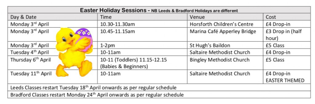 Easter Timetable 2017